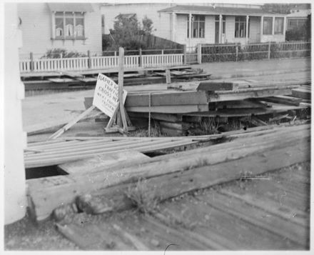 Storm Damaged Terrace End Railway Station