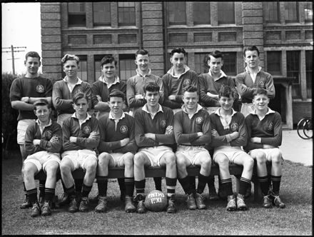 1st XI football team, Palmerston North Technical High School