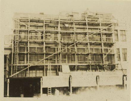 Construction of the Premier Drapery Co. Ltd, The Square