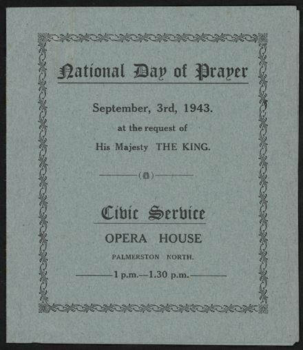 National Day of Prayer, 1943