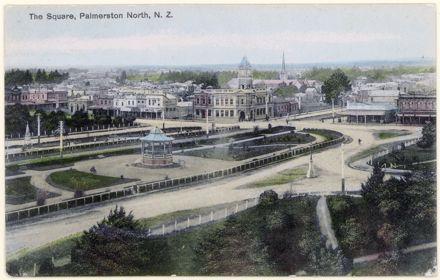 A Colour Postcard of The Square