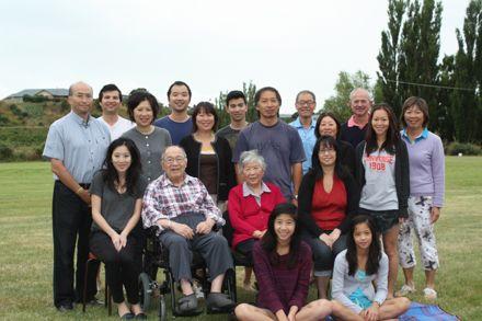 Sun and Kathleen Ngan with children and grandchildren