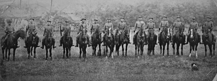 Members of the Manawatu Mounted Rifles at Hokowhitu