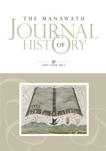Manawatu Journal of History: Volume 1