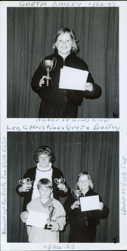 West End Amateur Swimming Champions - [1] Greta Bailey [2] Leo Chrsitine and Greta Bailey