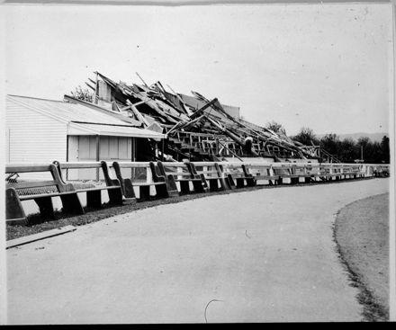 Damaged Grandstand, Sportsground