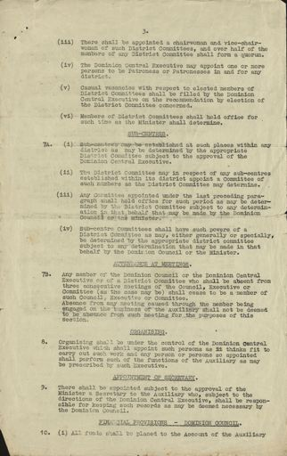 Women's War Service Auxiliary Constitution document Page 3