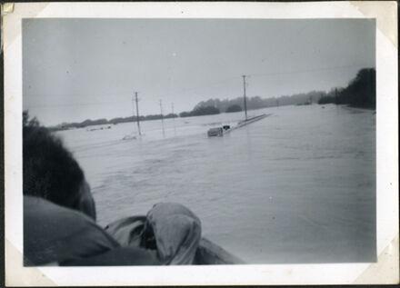 Bourke's Drain during flood, Rangiotu