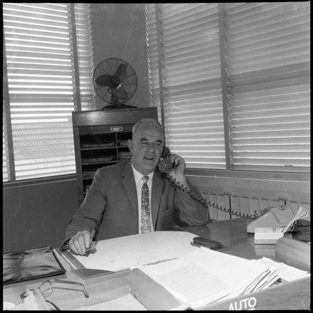 """""""Retiring Chief"""" [Palmerston North Telephone Exchange]"""