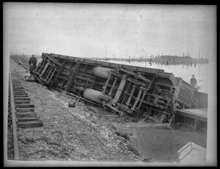 A De-railed Carriage in the Flooded Makerua Swamp
