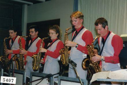 Queen City Big Band saxophone section, Manawatū Jazz Festival