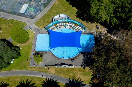 The Esplanade: Phoenix Palms lining Palm Drive and RSA Paddling Pool