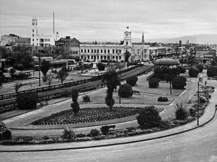 Railway line running through The Square