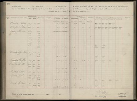 Palmerston North Rate Book, 1893 - 1896, 252
