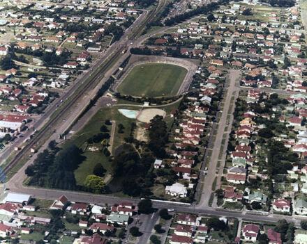 Aerial photograph of Memorial Park, Terrace End