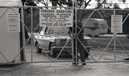 Police guard Showground gate