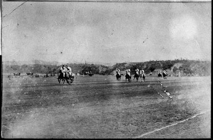 A Polo Match at Hokowhitu Polo Ground
