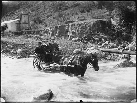 Council Staff Cross the Turitea Stream in a Trap