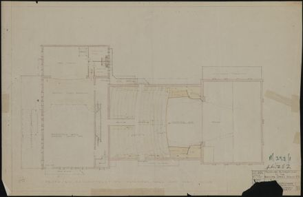 Plan of proposed alterations to Municipal Opera House
