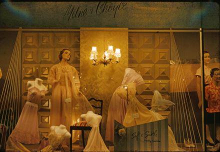 Milne and Choyce window display of women's petticoats and nightwear