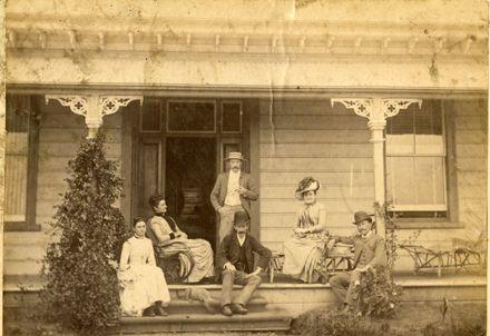 Pascal families at 'Brooklands' homestead, Awahuri