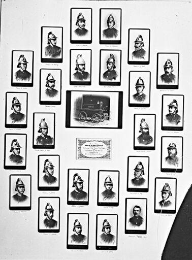 Members of the Palmerston North  Volunteer Fire Brigade