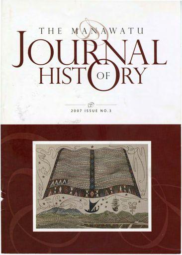 Manawatu Journal of History: Volume 3
