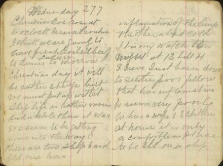 Shipboard diary p35