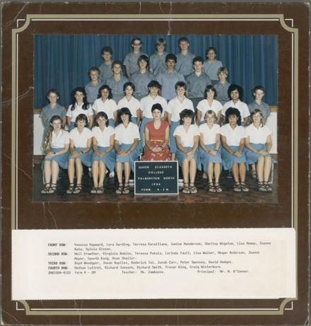 Queen Elizabeth College Form 4 - Z M, 1986