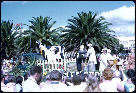 Milkmaids Float - 1971 Palmerston North Centennial Jubilee Parade