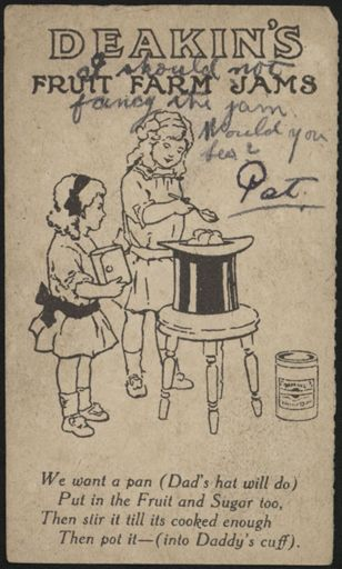 Postcard sent from the front during WWI