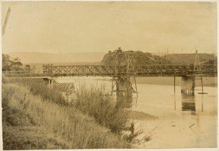 Fitzherbert Bridge under repair