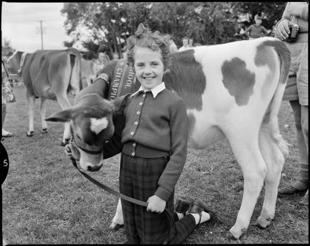 """Proud Owner of Champion Calf"" Tokomaru School Calf Day"