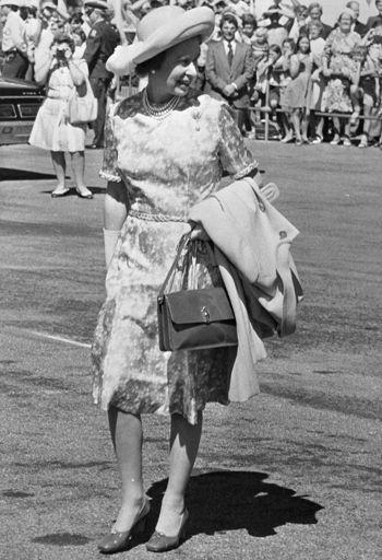 Queen Elizabeth II at Palmerston North Airport