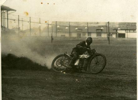 "Robert ""Bob"" Patton racing at Palmerston North Showgrounds"