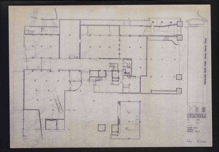 Architectural Plans of the redevelopment of the C M Ross building into the Palmerston North City Library