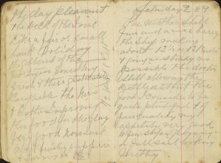 Shipboard diary p16