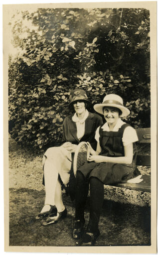 Andrews Collection: Marjorie and Mrs R Andrews