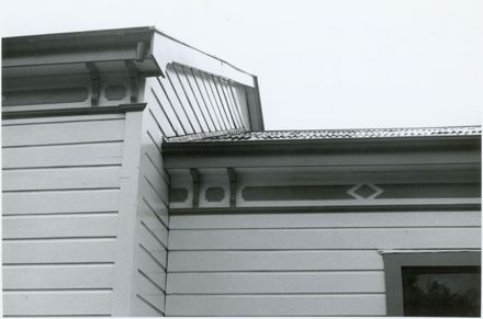 104 Napier Road, Detail of Eaves