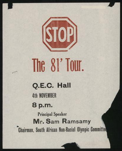 Stop the 81' Tour' notice