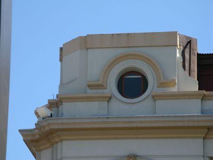 Grand Hotel's former turret, The Square