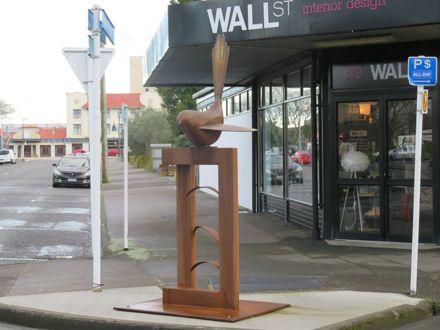 Bird sculpture by Paul Dibble