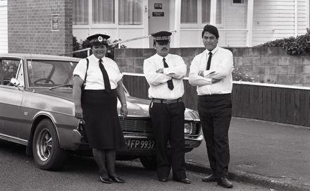 Māori Wardens Carol Hall, George Rerekura and Jim Puki