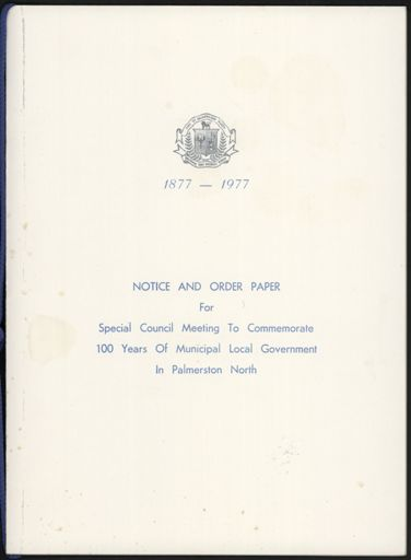 Special Council Meeting to Commemorate 100 Years of Municipal Local Government
