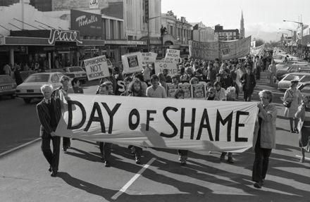 """""""'Day of Shame' Anti-Apartheid and Anti-Springbok Tour March"""""""