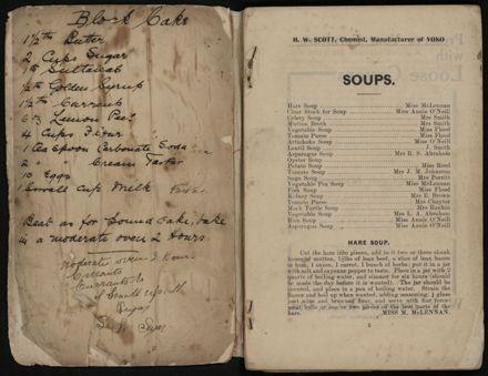Manawatu Cookery Book - page 1