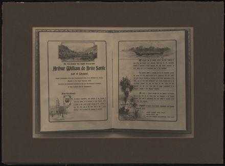 Illuminated address to Arthur William de Brito Savile, Earl of Liverpool