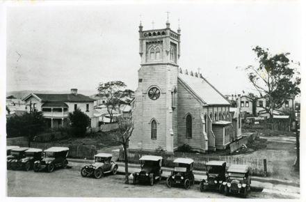 The second Saint Patrick's Church building, Broadway