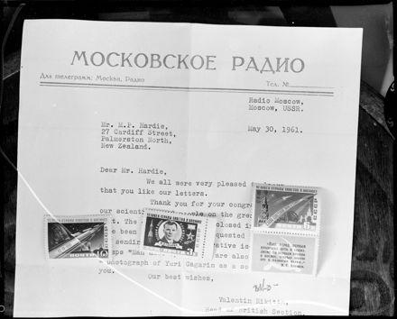 """Record of Historical Achievement"" Yuri Gagarin Circumnavigating the Earth"