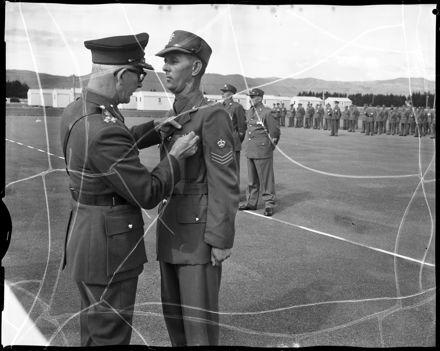 """Brigadier G.P. Cade, D.S.O., Medal Presentation"" at Linton Camp"